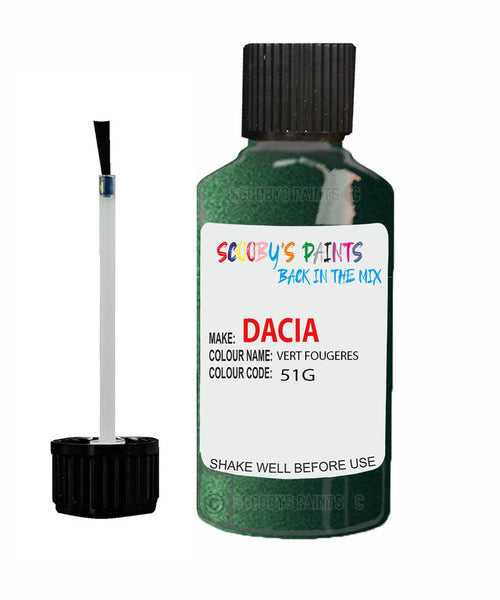 Dacia Logan Vert Fougeres (Green) Code: 51G Car Touch Up Paint