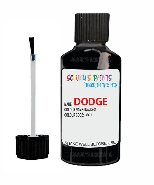 Dodge Viper Black 601 601 Touch Up Paint Scratch Stone Chip