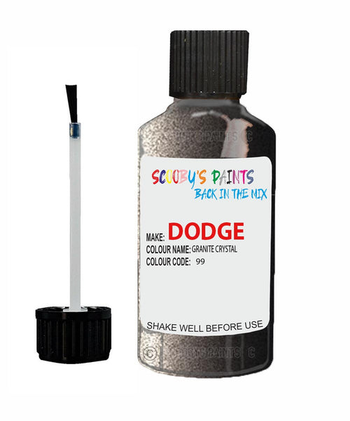 Dodge Challenger Granite Crystal 99 Touch Up Paint 2011-2021