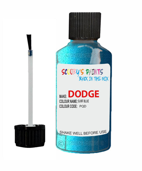 Dodge Charger Surf Blue Pqd Touch Up Paint Scratch Stone Chip Repair