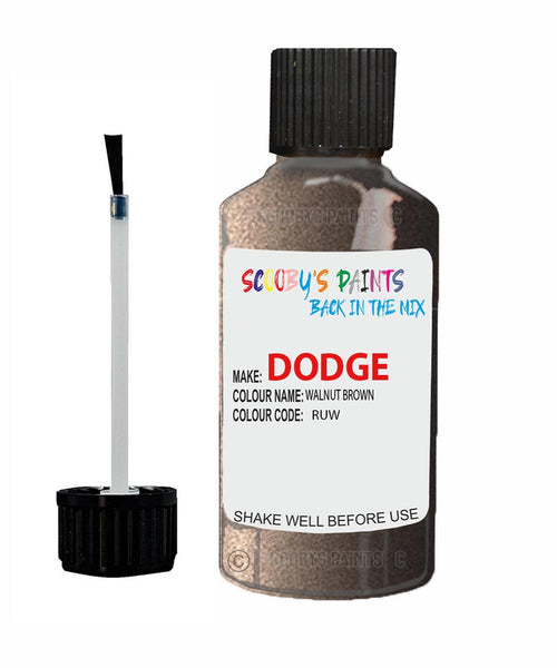 Dodge Durango Walnut Brown Ruw Touch Up Paint Scratch Stone Chip Kit