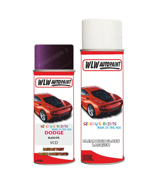Dodge Challenger Black-Eye Vcd Aerosol Spray Paint Rattle Can
