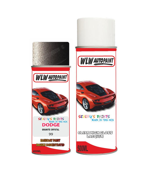 Dodge Challenger Granite Crystal 99 Aerosol Spray Paint Rattle Can