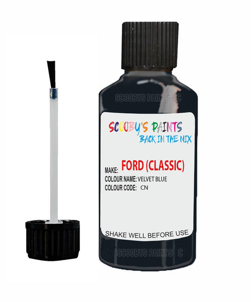 Ford Classic All Models Velvet Blue Cn Car Touch Up Paint Scratch Kit
