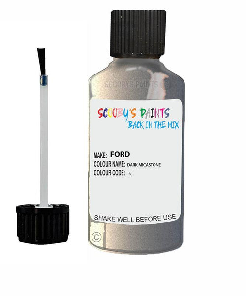 FORD C-MAX DARK MICASTONE Code B Touch Up Paint 2010-2014