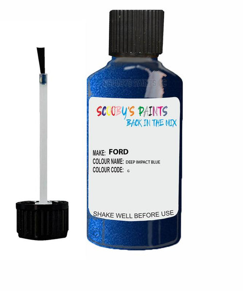 FORD C-MAX DEEP IMPACT BLUE Code G Touch Up Paint 2014-2020