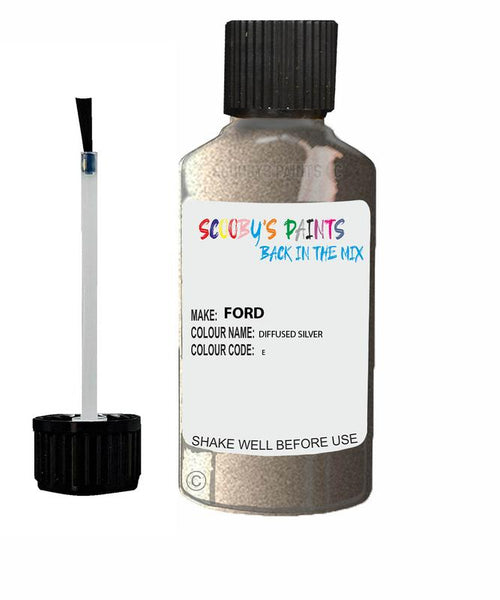 Ford Transit Diffused Silver Code E Touch Up Paint Scratch Stone Chip