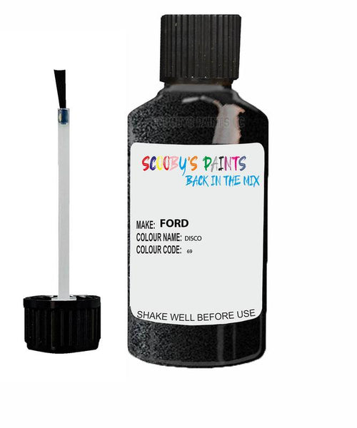 ford ka disco code 69 touch up paint 2009 2010 Scratch Stone Chip Repair