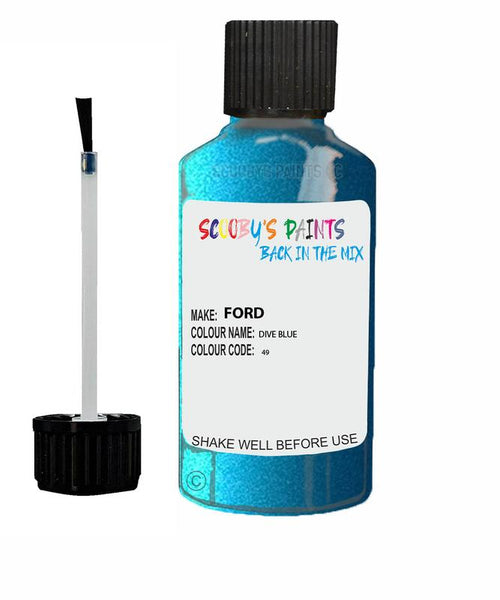 Ford Ka Dive Blue Code 49 Touch Up Paint Scratch Stone Chip