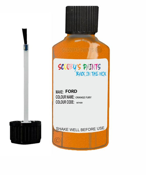 FORD FOCUS ORANGE FURY Code M7409 Touch Up Paint 2019-2020