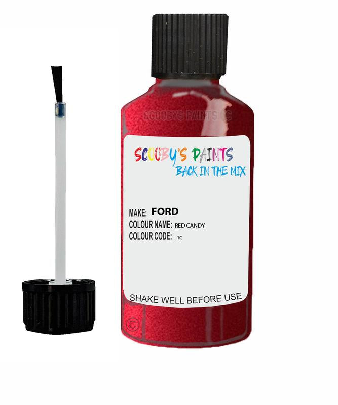 FORD FOCUS RED CANDY Code 1C Touch Up Paint 2011-2018