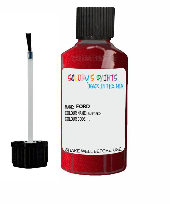 FORD FOCUS RUBY RED Code 7 Touch Up Paint 2012-2019