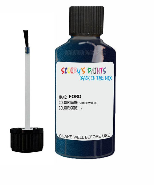 FORD GALAXY SHADOW BLUE Code V Touch Up Paint 2004-2006