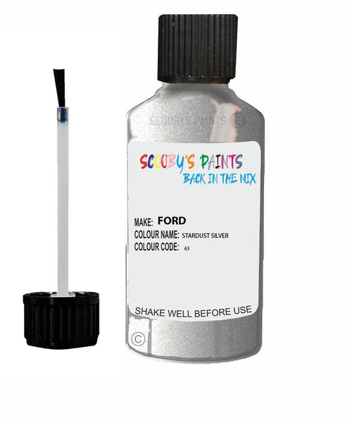 FORD GALAXY STARDUST SILVER Code 63 Touch Up Paint 1993-2008