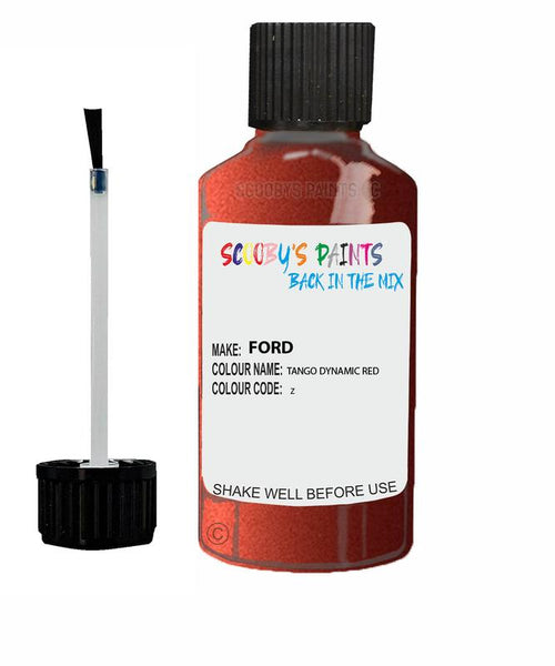 FORD GALAXY TANGO DYNAMIC RED Code Z Touch Up Paint 2006-2011