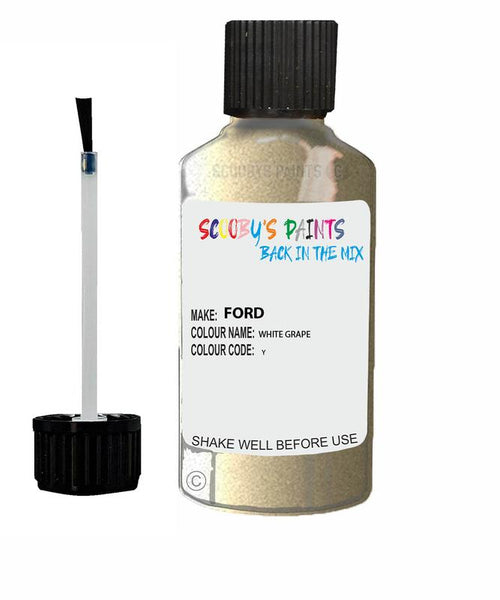 FORD GALAXY WHITE GRAPE Code Y Touch Up Paint 2006-2008