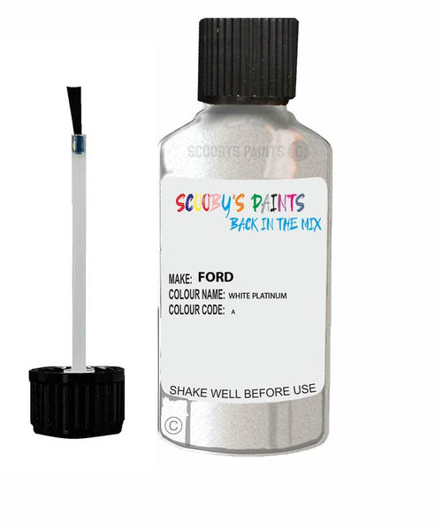 FORD GALAXY WHITE PLATINUM Code A Touch Up Paint 2014-2020