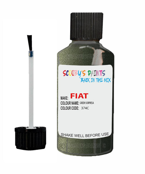 Fiat / Lancia Panda City Cross Verde Sorpresa Code: 374C Car Touch Up Paint