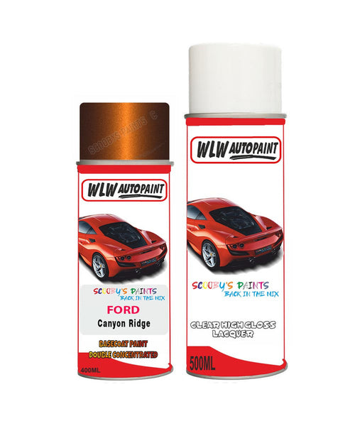 Ford Edge Canyon Ridge Aerosol Spray Car Paint Can With Clear Lacquer