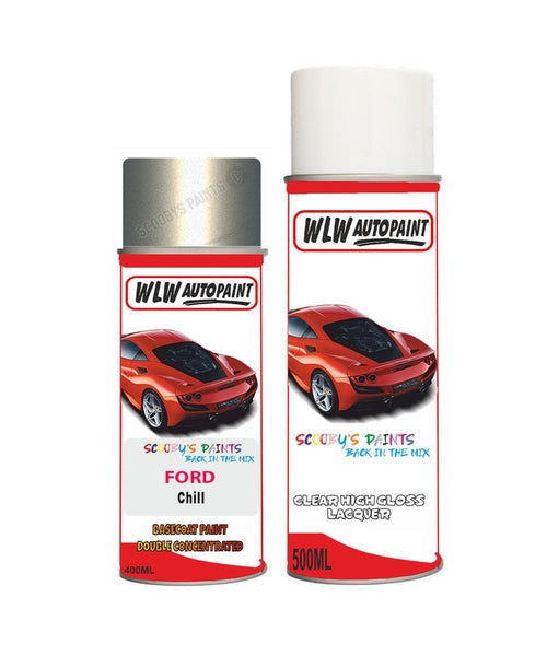Ford Transit Connect Chill Aerosol Spray Car Paint Can With Clear Lacquer
