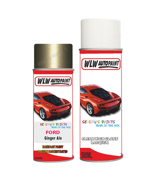 Ford Kuga Ginger Ale Aerosol Spray Car Paint Can With Clear Lacquer