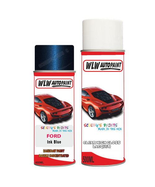 Ford Mondeo Ink Blue Aerosol Spray Car Paint Can With Clear Lacquer