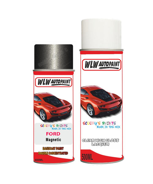 Ford Transit Connect Magnetic Aerosol Spray Car Paint Can With Clear Lacquer