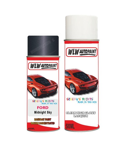 Ford Transit Midnight Sky Aerosol Spray Car Paint Can With Clear Lacquer