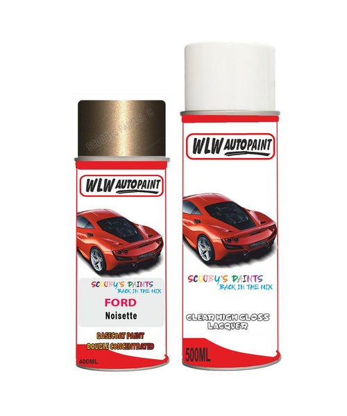 Ford Transit Connect Noisette Aerosol Spray Car Paint Can With Clear Lacquer
