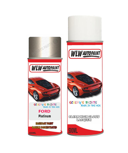 Ford Mondeo Platinum Aerosol Spray Car Paint Can With Clear Lacquer