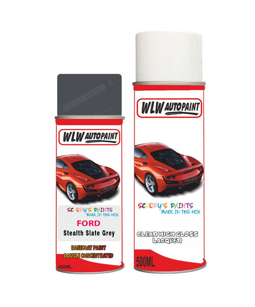 Ford Focus Stealth/Slate Grey Aerosol Spray Car Paint Can With Clear Lacquer
