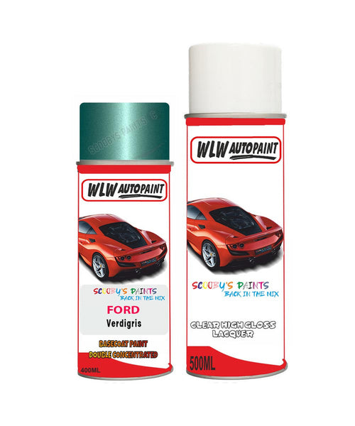 Ford Fiesta Verdigris Aerosol Spray Car Paint Can With Clear Lacquer