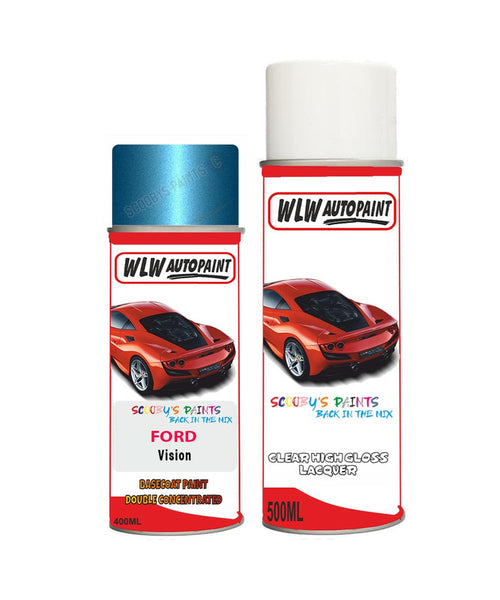 Ford Fiesta Vision Aerosol Spray Car Paint Can With Clear Lacquer