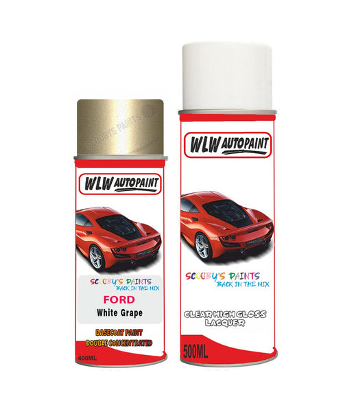 Ford Mondeo White Grape Aerosol Spray Car Paint Can With Clear Lacquer