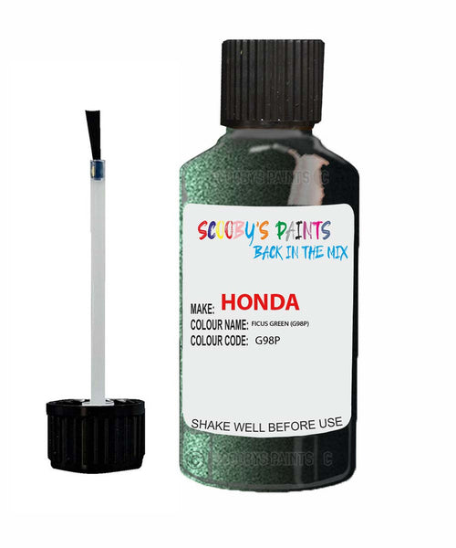 Honda Prelude Ficus Green G98P Car Touch Up Paint Scratch Repair