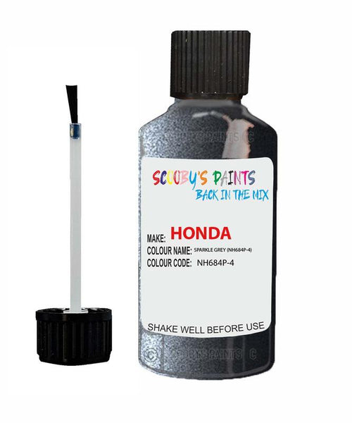 Honda Jazz Sparkle Grey Code Nh684P-4 Touch Up Paint 2004-2012