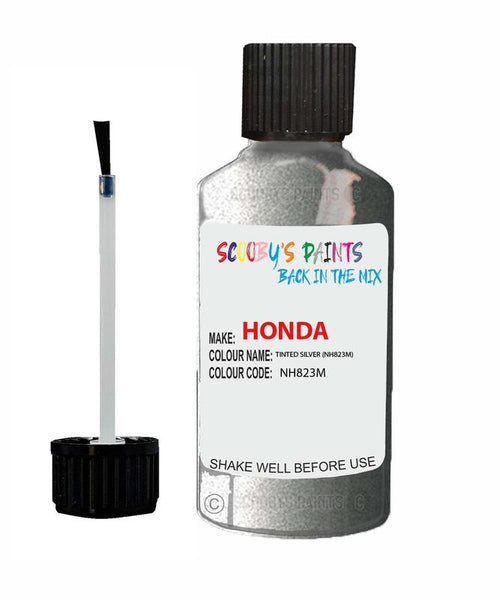 Honda Jazz Tinted Silver Code Nh823M Touch Up Paint 2013-2017