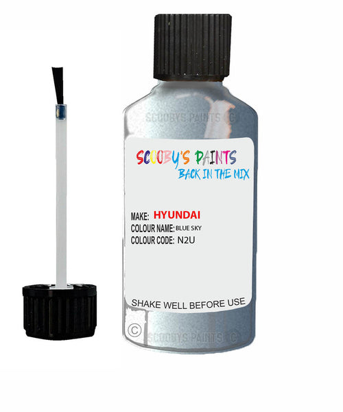 Hyundai I30 Blue Sky N2U Car Touch Up Paint Scratch Repair
