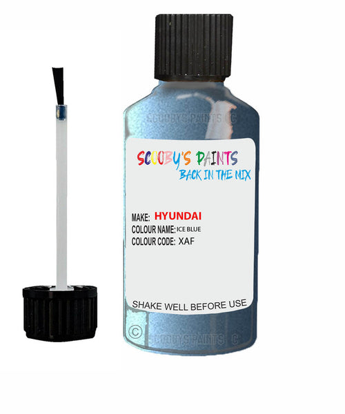 Hyundai I30 Ice Blue Xaf Car Touch Up Paint Scratch Repair 2010-2015