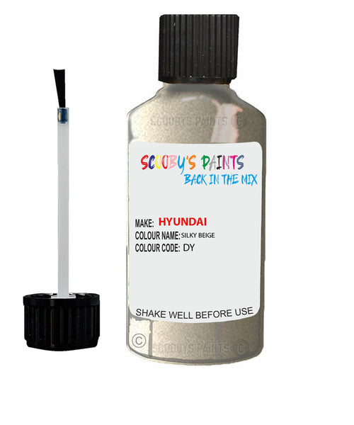 Hyundai Grandeur Silky Beige Dy Car Touch Up Paint Scratch Repair