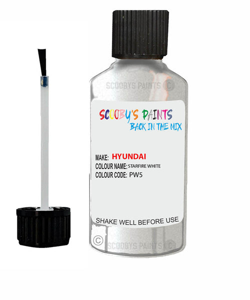 Hyundai Mistra Starfire White Pw5 Car Touch Up Paint Scratch Repair