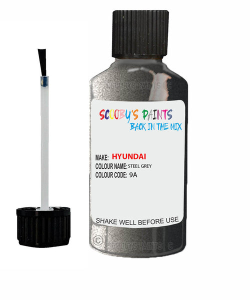 Hyundai I30 Steel Grey 9A Car Touch Up Paint Scratch Repair 2006-2018