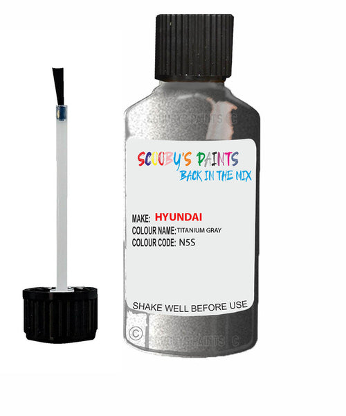 Hyundai Elantra Titanium Gray Code N5S Touch Up Paint 2010-2016
