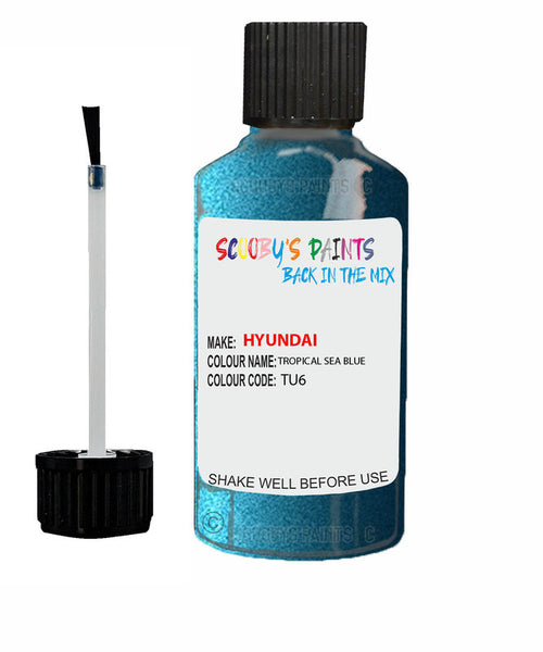 Hyundai Elantra Tropical Sea Blue Code Tu6 Touch Up Paint 2013-2016