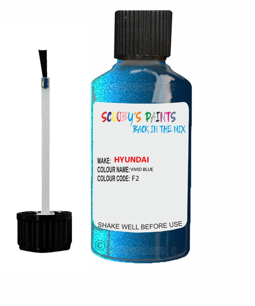 Hyundai Elantra Vivid Blue Code F2 Touch Up Paint 2006-2015