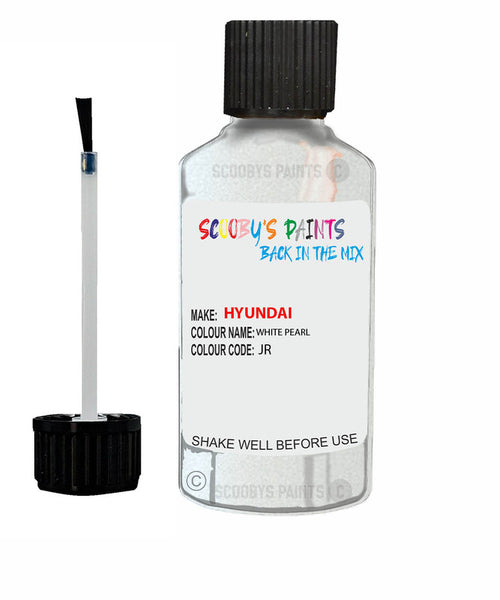 Hyundai Elantra White Pearl Code Jr/Tw3/ Touch Up Paint 2009-2020