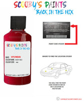 Hyundai Elantra Fiery Red R4R Car Touch Up Paint Scratch Repair