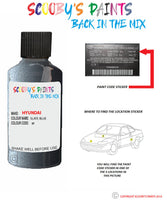 Hyundai Sonata Slate Blue Bf Car Touch Up Paint Scratch Repair 2007-2010