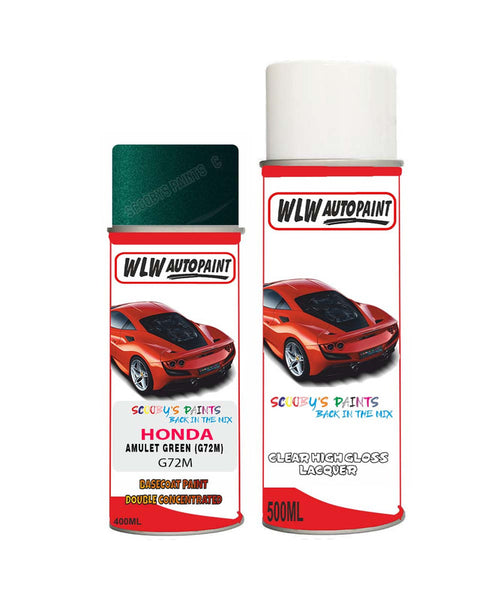 Honda Concerto Amulet Green G72M Car Aerosol Spray Paint With Lacquer 1991-1995