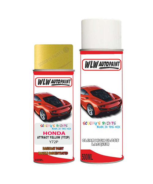 Honda Jazz Attract Yellow Y72P Car Aerosol Spray Paint With Lacquer 2014-2018